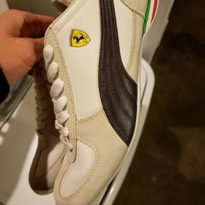 Puma Ferrari logo sneakers